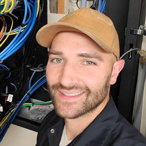 Tom on a recent job